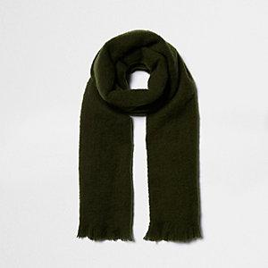 Khaki blanket scarf