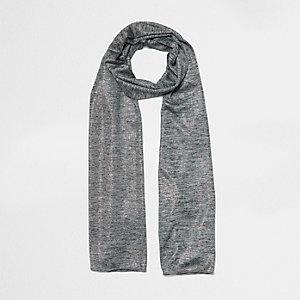 Écharpe en jersey gris chiné métallisée