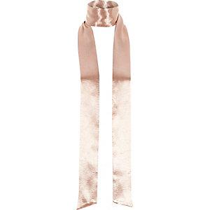 Roze smalle sjaal met satijneffect