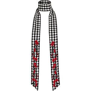 Skinny Schal in Schwarz und Weiß