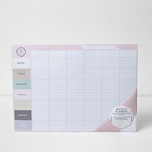 Pink A3 weekly planner