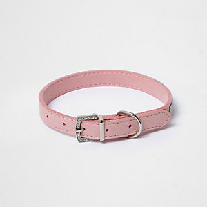 RI Dog pink embellished dog collar
