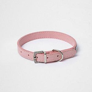 RI Dog roze versierde halsband