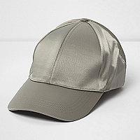 Khaki green satin cap