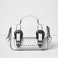 White western style mini satchel bag