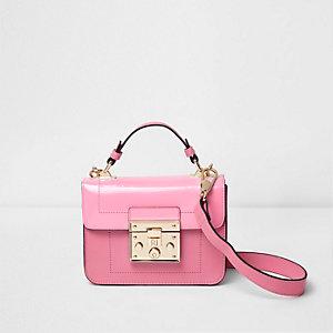 Roze kleine crossbodytas met sluiting voor