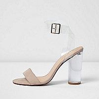 Sandales rose poudré minimalistes à talons