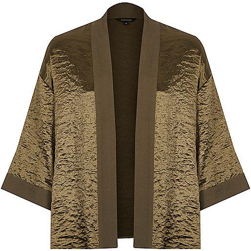 Khaki cropped cape