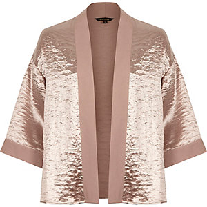 Light pink cropped cape