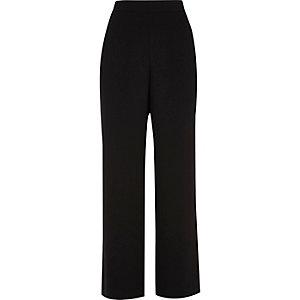 Zwarte zachte broek met wijde pijpen