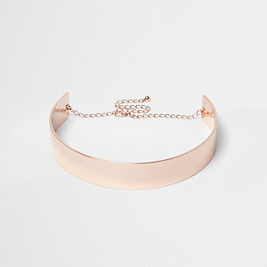 Rose gold metal choker