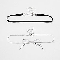 Two row chain bow choker