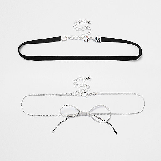 Two row chain bow choker