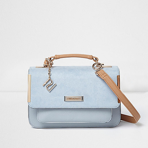 Blue mini satchel cross body bag
