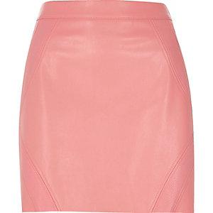 Pink snake panel mini skirt