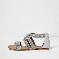 Silver embellished sandals