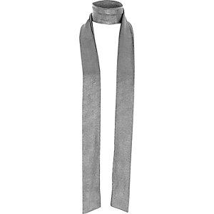 Écharpe mince argenté métallisé