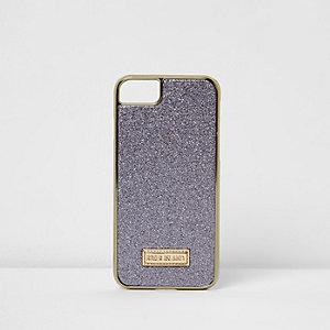 Coque violette à paillettes pour iPhone 6/7
