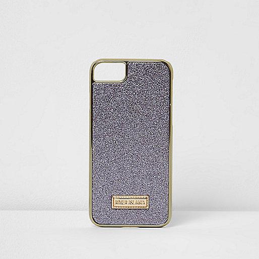 Purple glitter iPhone 6/7 case
