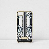Schwarze iPhone-6/7-Hülle mit Blumenmuster