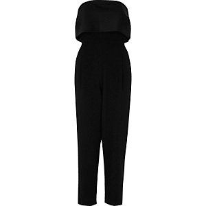 Black bandeau top jumpsuit