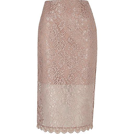 pink lace pencil skirt midi skirts skirts