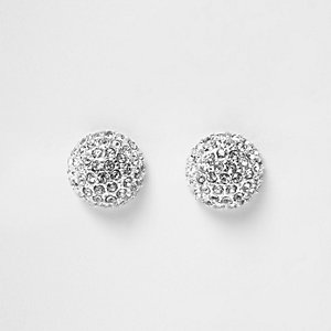 Silver tone stud earrings