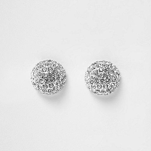 Silver tone stud earrings
