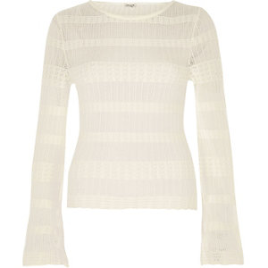 Cream sheer panel jumper
