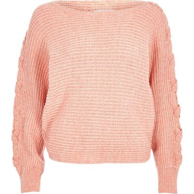 Knitting Pattern Batwing Jumper : Coral batwing knit jumper - jumpers - knitwear - women