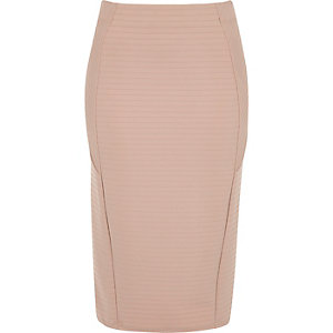 Light pink bandage pencil skirt