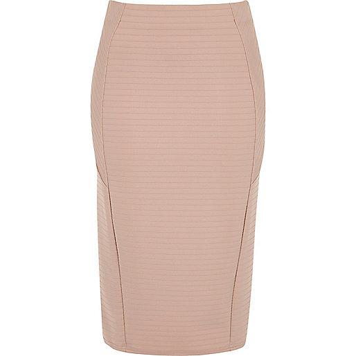 Light pink bandage pencil skirt