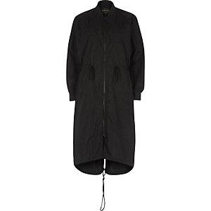 Anorak noir long