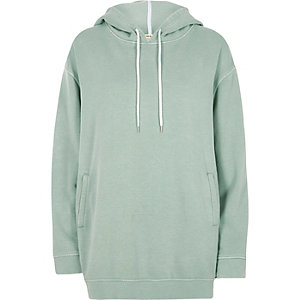 Green soft oversized hoodie