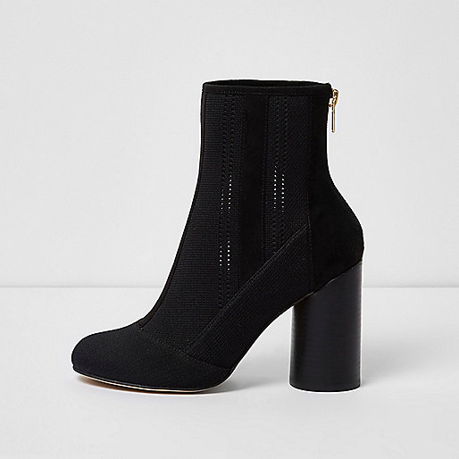 Bottines en maille noires
