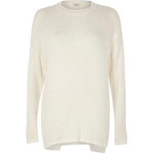 Pullover mit dekonstruiertem Saum