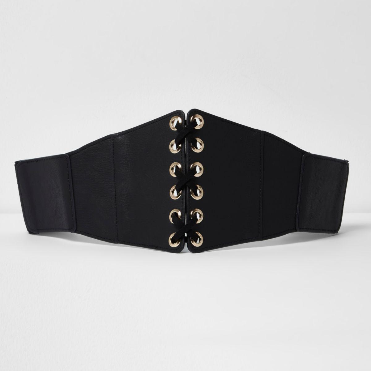 Schwarzer, breiter Gürtel
