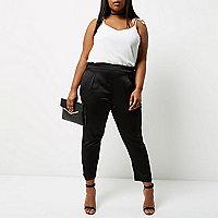 Pantalon Plus coupe fuselée noir