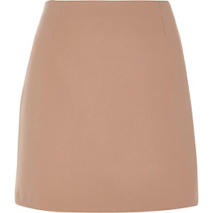 Blush pink A-line mini skirt