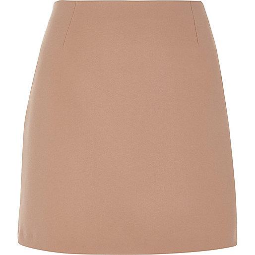 Blush pink A-line mini skirt