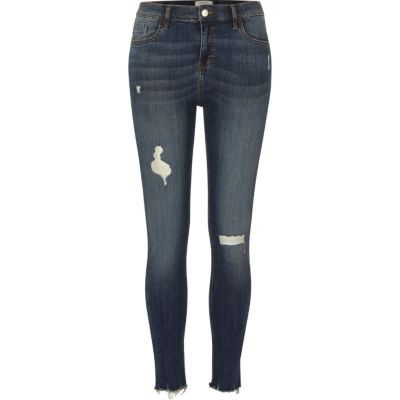 Amelie Donkerblauwe ripped superskinny jeans