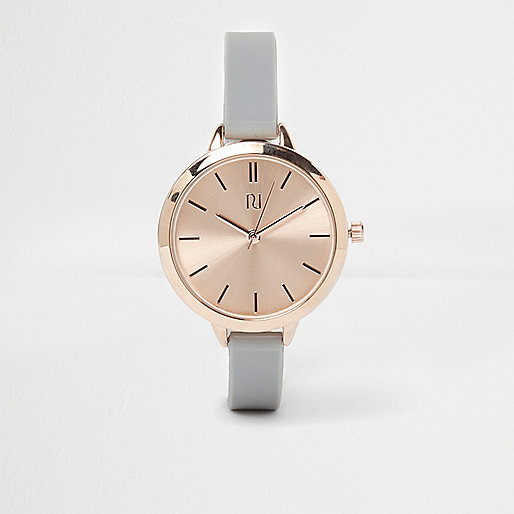Grey rose gold watch