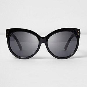 Große Sonnenbrille mit glitzerndem Gestell