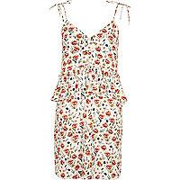 Kleid mit Creme mit Blumenmuster