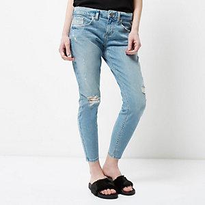 Petite – Alannah – Legere Skinny Jeans im Used-Look