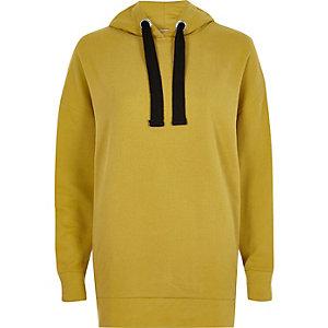 Mustard yellow oversized hoodie