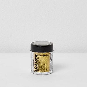 Shaker make-uppot met goudkleurige glitter