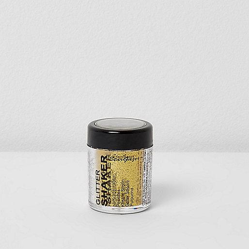 Gold glitter shaker make-up pot