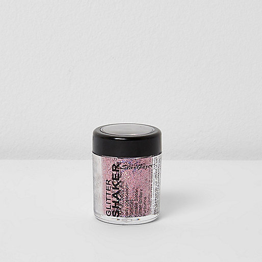 Pink glitter shaker pot