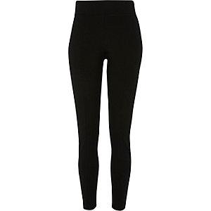 Black side zip detail skinny trousers